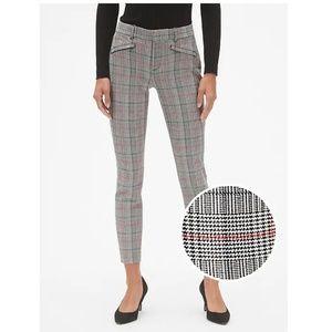 NWT Gap Skinny Ankle Glen Plaid Pants Size 10 v124